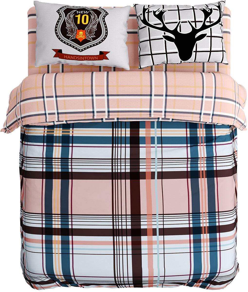Комплект белья Сирень Король, 1,5-спальный, наволочки 50x70 см