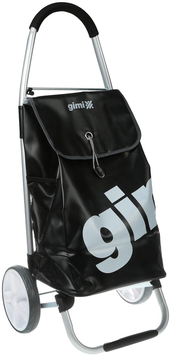 """Хозяйственная сумка-тележка Gimi """"Galaxy"""" выполнена из высококачественного полиэстера и ПВХ. Каркас тележки изготовлен из прочного алюминия. Она оснащена одним вместительным отделением, закрывающимся на кулиску и шнурок. Снаружи имеются карман на застежке-молнии два боковых кармана. Сумка водоустойчива, оснащена парой колес, которые обеспечивают удобство транспортировки. Для компактного хранения сумку можно сложить. Максимальная нагрузка: 30 кг."""