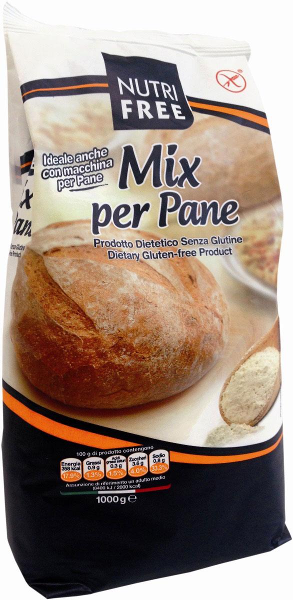 NutriFree Mix per pane Мучная смесь для выпечки хлеба, 1 кг мучная смесь кексики шоколадные