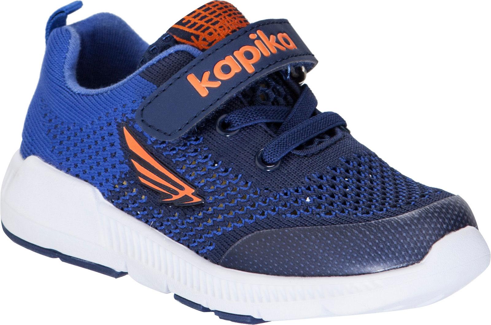 Кроссовки для мальчика Kapika, цвет: темно-синий. 71095-2. Размер 2871095-2Кроссовки от Kapika займут достойное место в гардеробе вашего ребенка! Модель изготовлена из текстиля и искусственной кожи. Классическая шнуровка и хлястик на липучке, обеспечивают надежную фиксацию обуви на ноге. Внутренняя поверхность из текстиля, обеспечивает комфорт и предотвращает натирание. Стелька из текстиля сохраняет комфортный микроклимат в обуви. Рифленая поверхность подошвы защищает изделие от скольжения. Стильные и в то же время удобные кроссовки - необходимая вещь в гардеробе каждого ребенка.