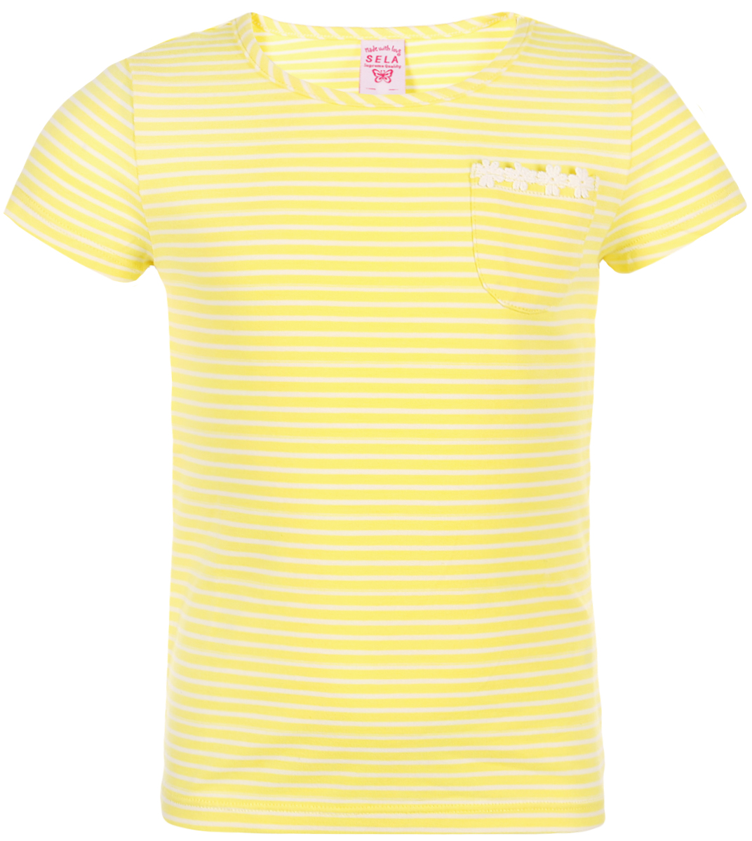 Футболка для девочки Sela, цвет: желтый. Ts-511/489-8223. Размер 116 цена