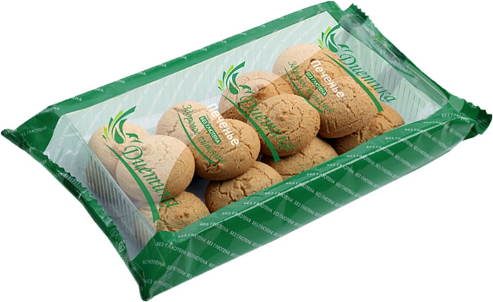 Диетика печенье овсяное, 200 г сладкая сказка печенье дед мороз и снегурочка 400 г
