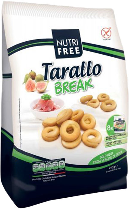 Nutrifree Tarallo Break сушки, 240 г nutrifree mini crackers мини крекеры 240 г