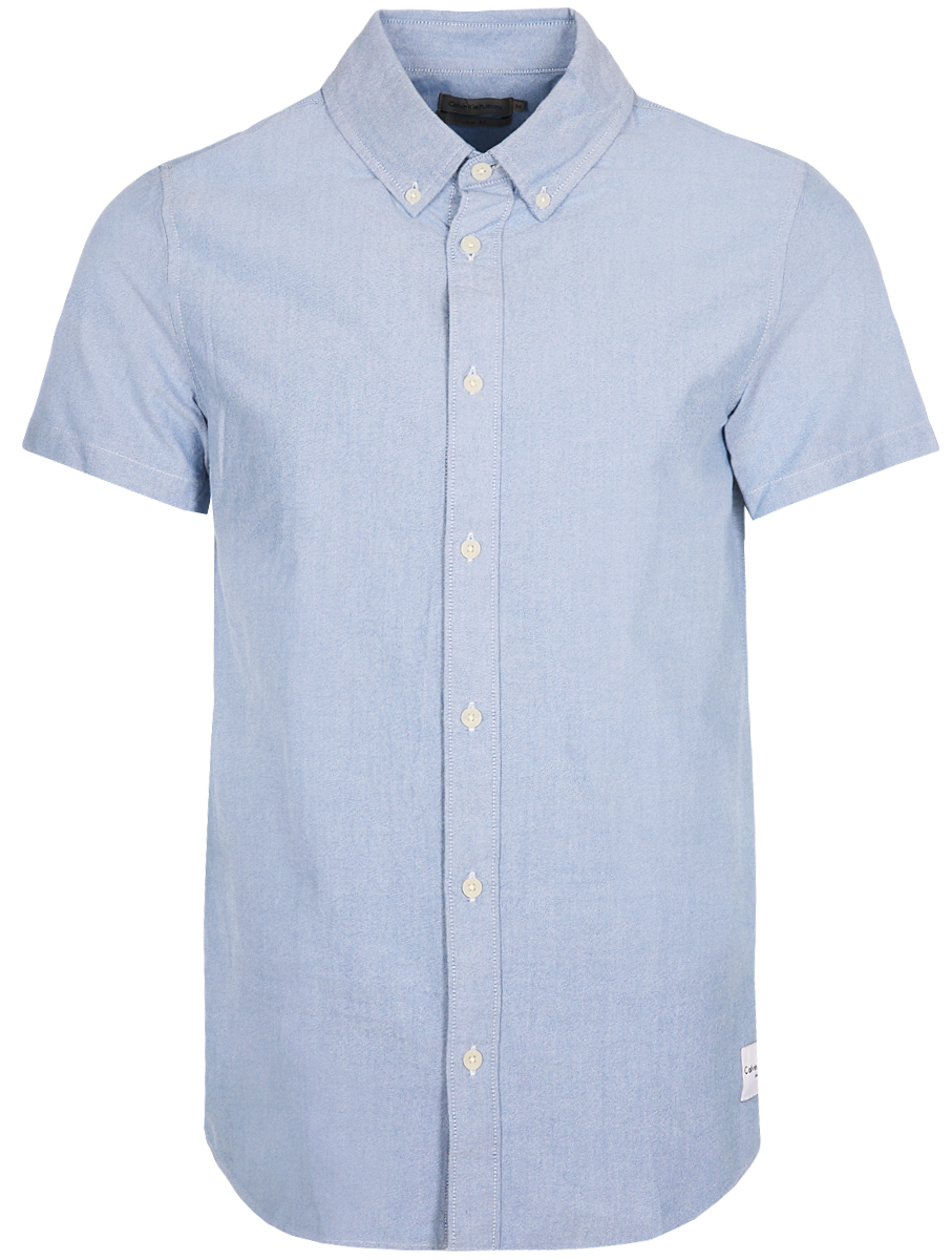 Рубашка мужская Calvin Klein Jeans, цвет: голубой. J30J307444_4990. Размер XXL (52/54) куртка мужская calvin klein jeans цвет синий j30j305551 4020 размер xxl 52 54