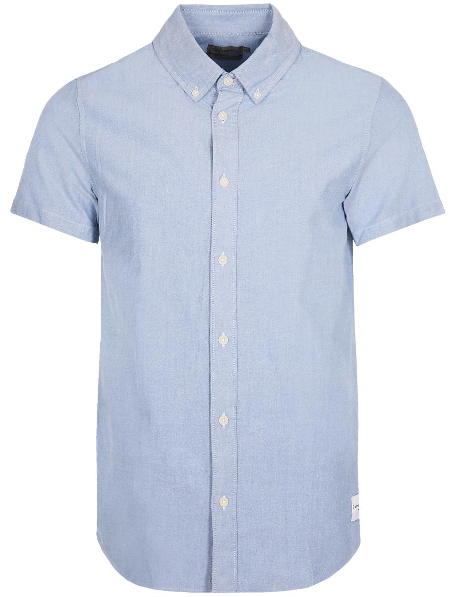 Рубашка мужская Calvin Klein Jeans, цвет: голубой. J30J307444_4990. Размер XXL (52/54) рубашка мужская calvin klein jeans цвет темно синий j30j301011 размер s 44 46
