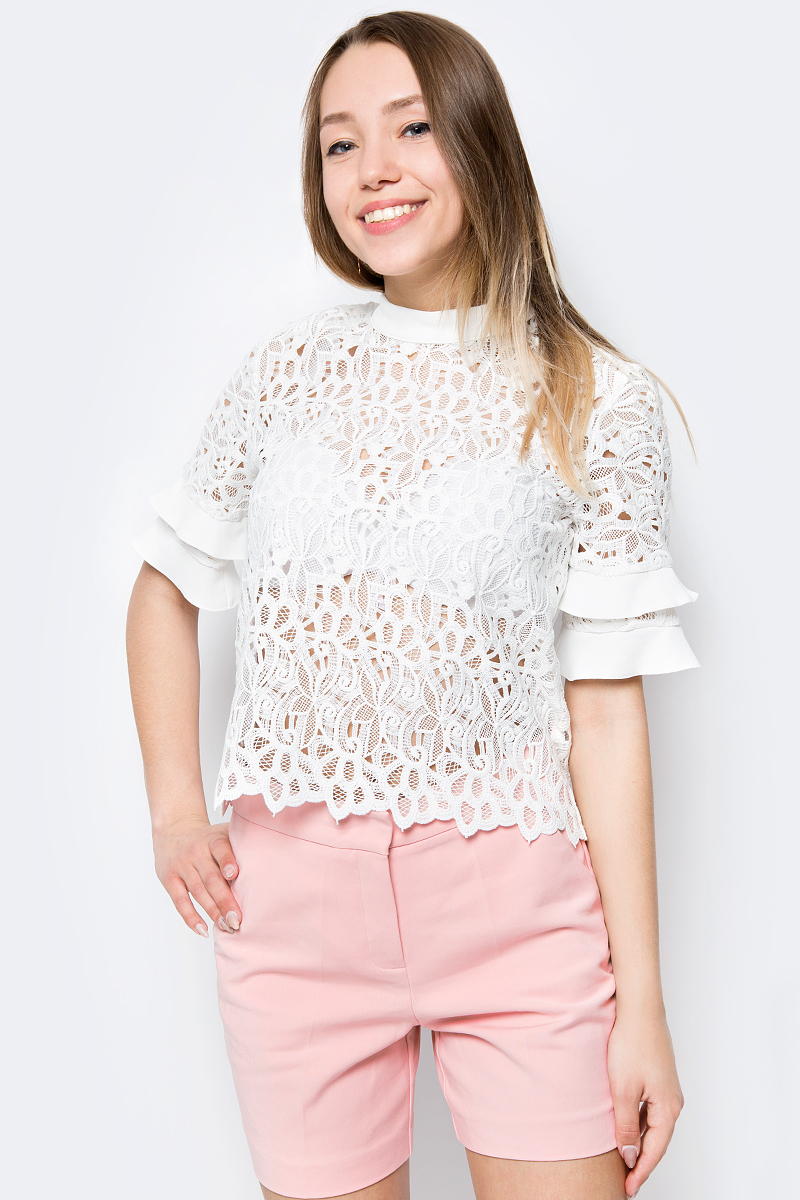 Блузка женская adL, цвет: белый. 11533902000_002. Размер XS (40/42)