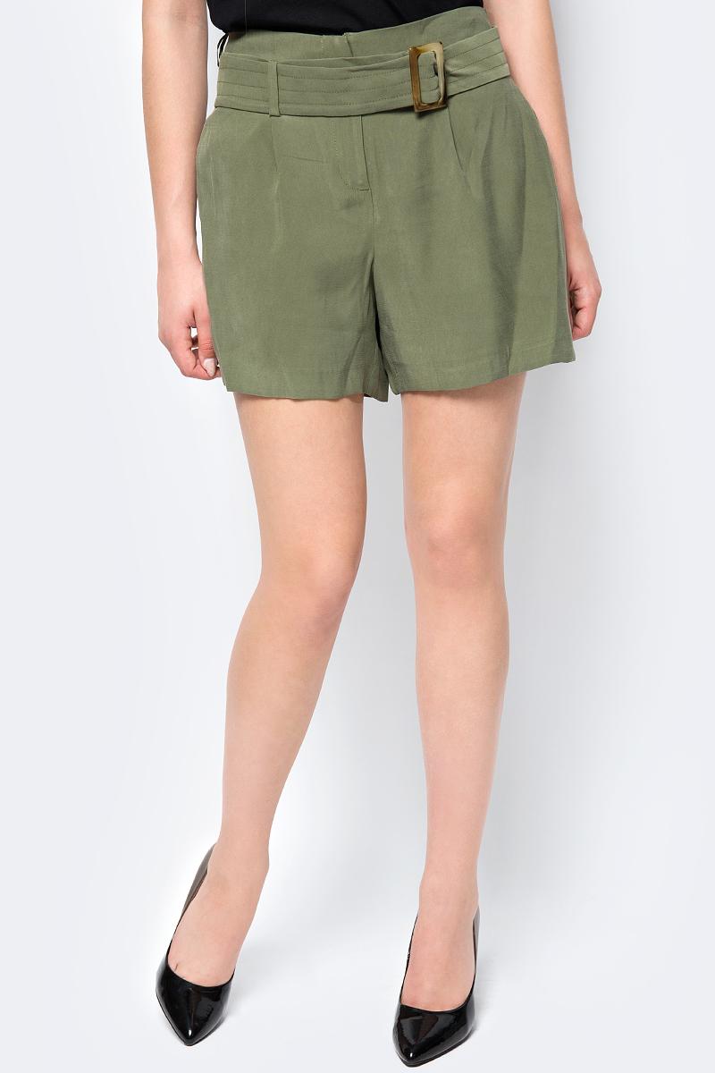 Шорты женские adL, цвет: зеленый. 17033986000_034. Размер XS (40/42)