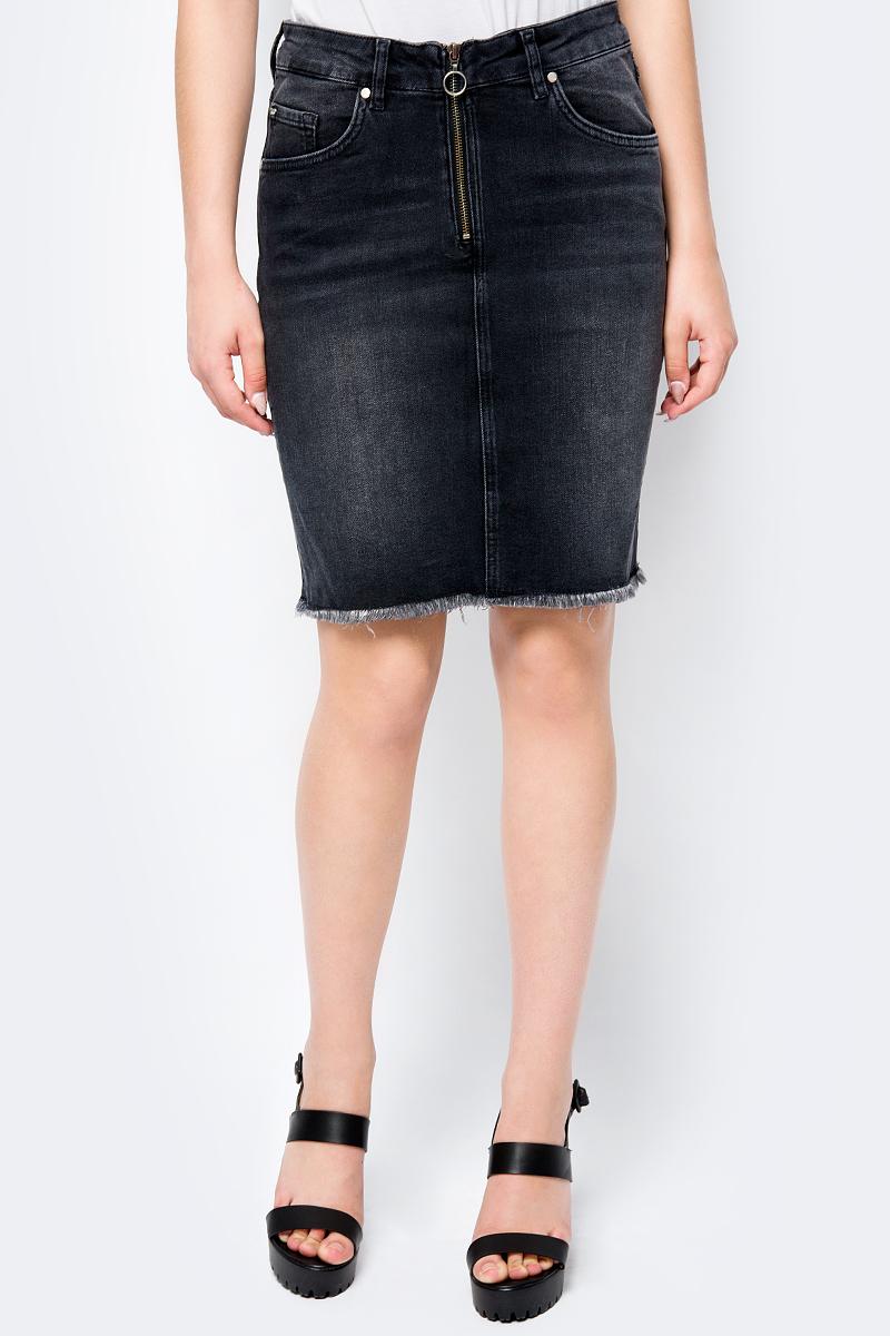 Юбка Mustang Fancy Skirt, цвет: темно-серый. 1005165-4000-884. Размер 32 (48) стоимость
