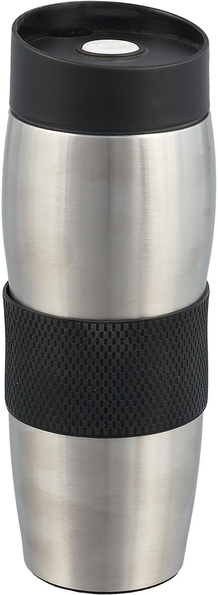 Термокружка MiEssa Aqua, цвет: черный, 360 мл. MSV-2012