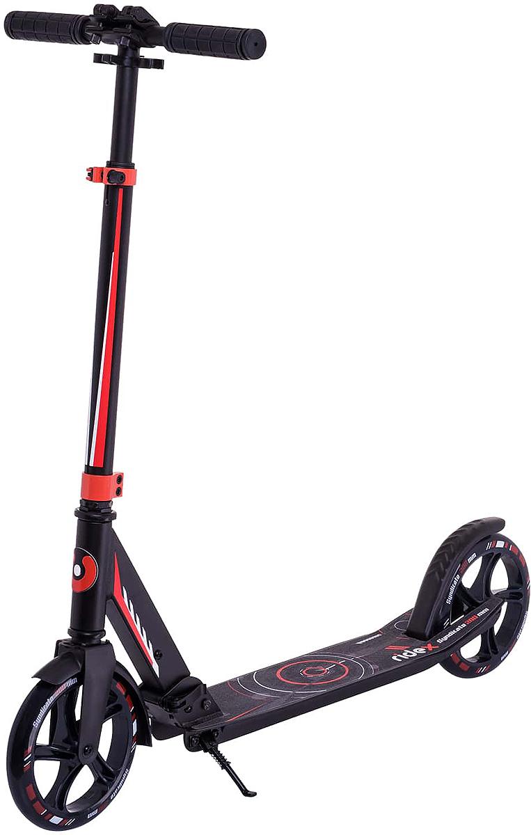 Самокат Ridex Syndicate, 2-колесный, цвет: красный двухколесные самокаты ridex eclipse 230 200 мм