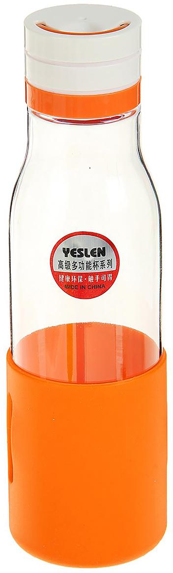 Бутылка, цвет: оранжевый, 500 мл1920394_оранжевыйОт качества посуды зависит не только вкус еды, но и здоровье человека. Бутылка - товар, соответствующий российским стандартам качества. Любой хозяйке будет приятно держать его в руках. С данной посудой и кухонной утварью приготовление еды и сервировка стола превратятся в настоящий праздник.