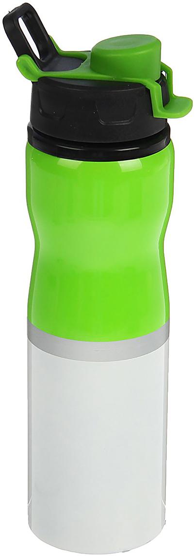 Бутылка спортивная Модерн, цвет: зеленый, 750 мл бутылка гантеля спортивная irontrue цвет зеленый 2 2 л