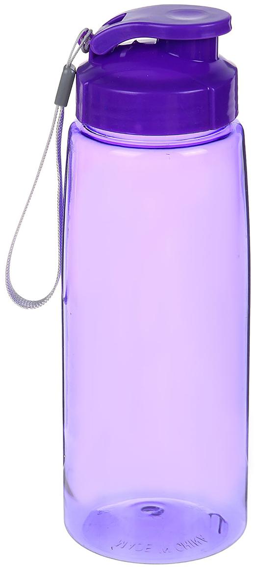 Бутылка спортивная, со шнурком, цвет: фиолетовый, 800 мл2296743_фиолетовыйОт качества посуды зависит не только вкус еды, но и здоровье человека. Бутылка - товар, соответствующий российским стандартам качества. Любой хозяйке будет приятно держать его в руках. С данной посудой и кухонной утварью приготовление еды и сервировка стола превратятся в настоящий праздник.