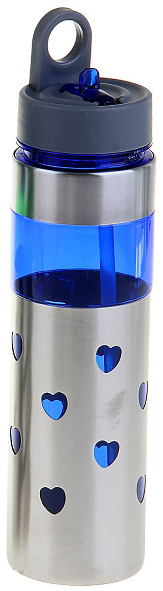 Фляга Сердечки, цвет: синий, 700 мл1189536_синийОт качества посуды зависит не только вкус еды, но и здоровье человека. Фляжка - товар, соответствующий российским стандартам качества. Любой хозяйке будет приятно держать его в руках. С данной посудой и кухонной утварью приготовление еды и сервировка стола превратятся в настоящий праздник.