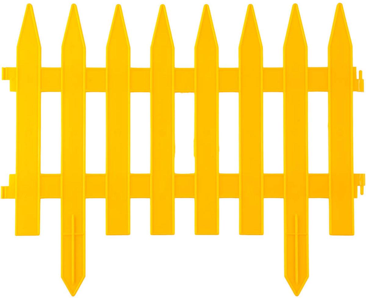 Забор декоративный Grinda Классика, цвет: желтый, 28 x 300 см