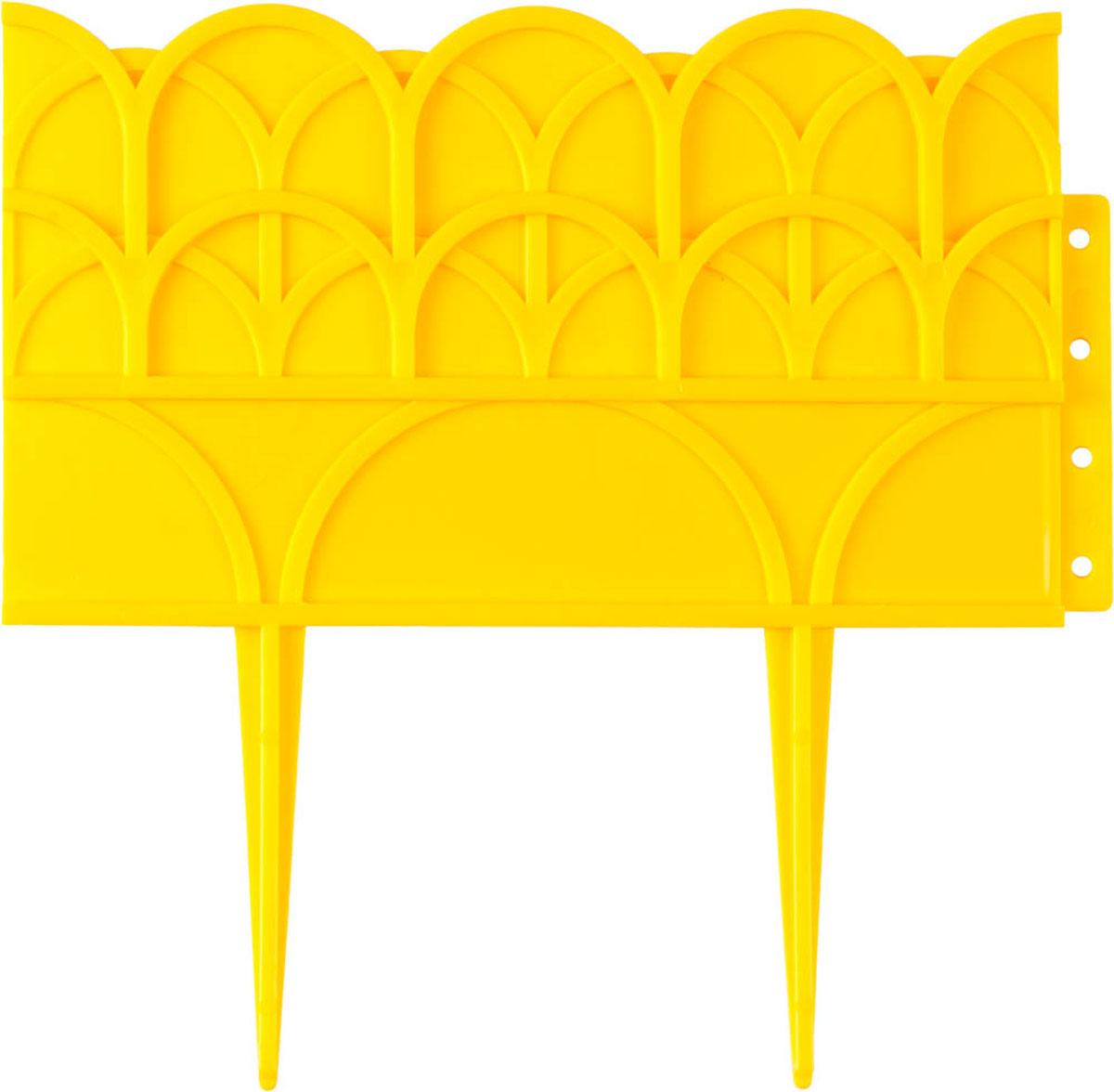 Бордюр декоративный Grinda, для цветников, цвет: желтый, 14 х 310 см бордюр декоративный grinda летний сад 422225