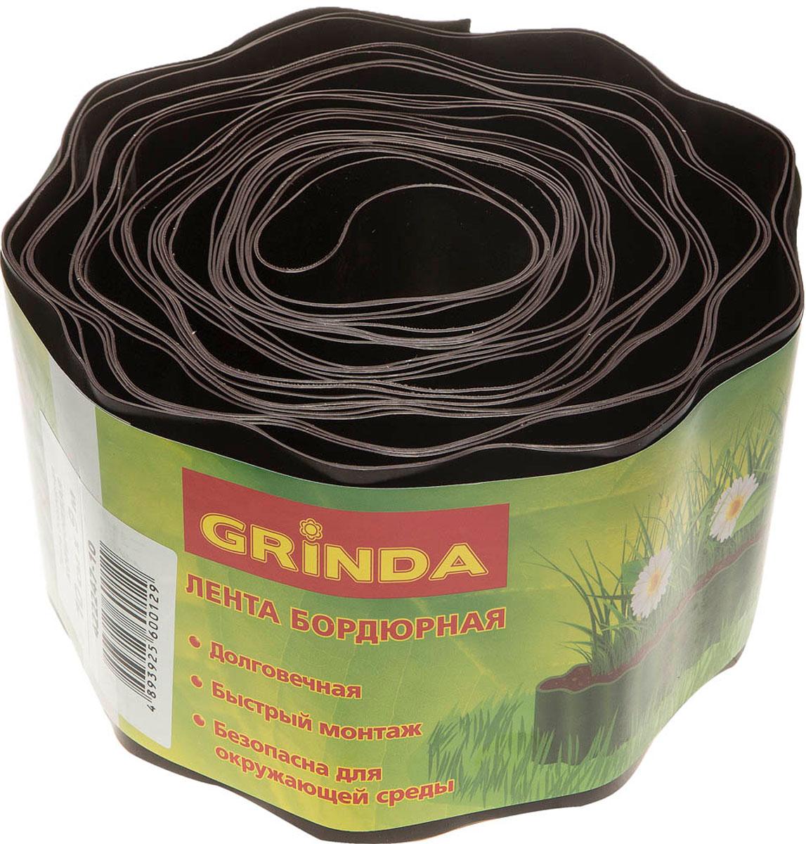 цена на Лента бордюрная Grinda, цвет: коричневый, 10 см х 9 м