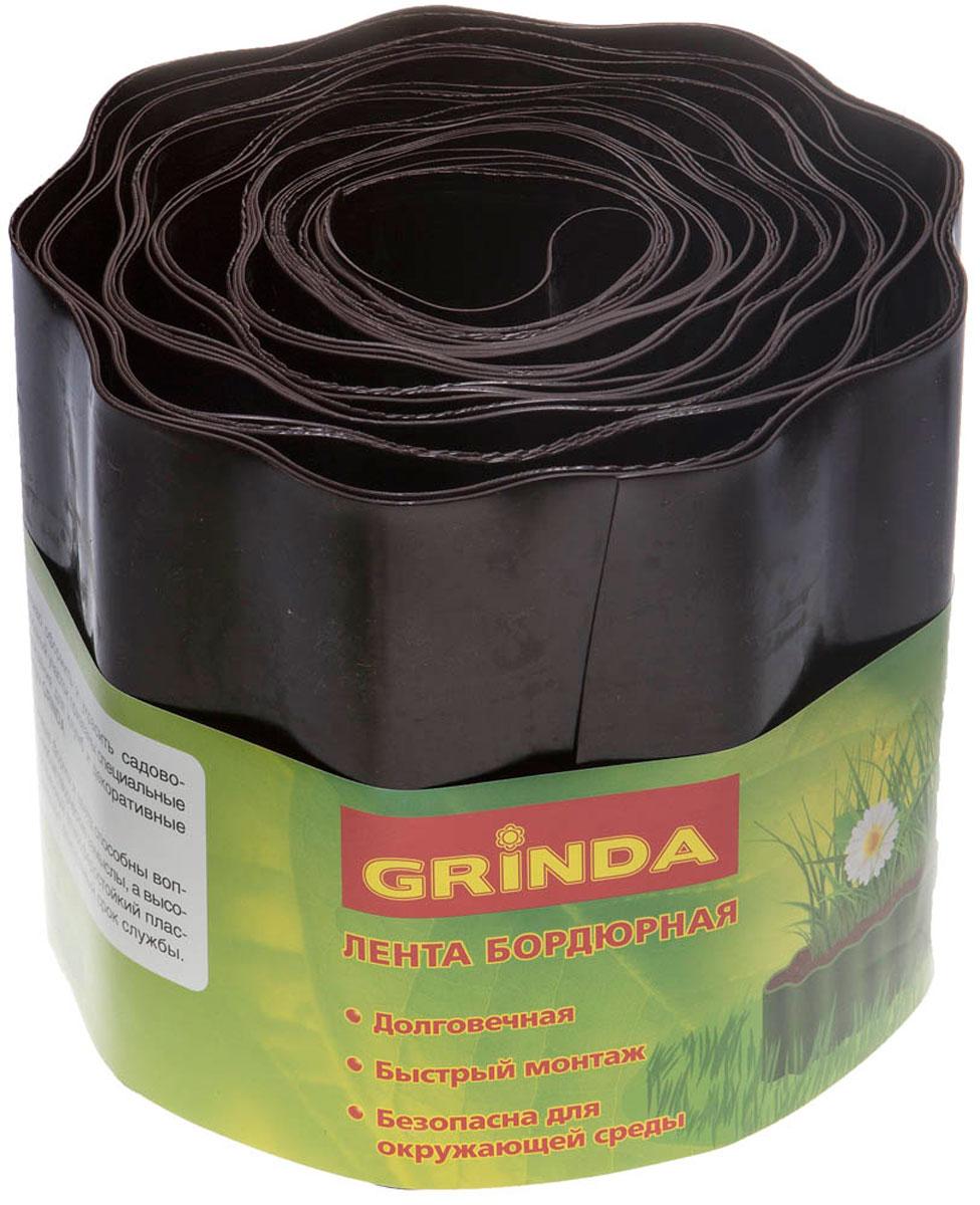 цена на Лента бордюрная Grinda, цвет: коричневый, 15 см х 9 м
