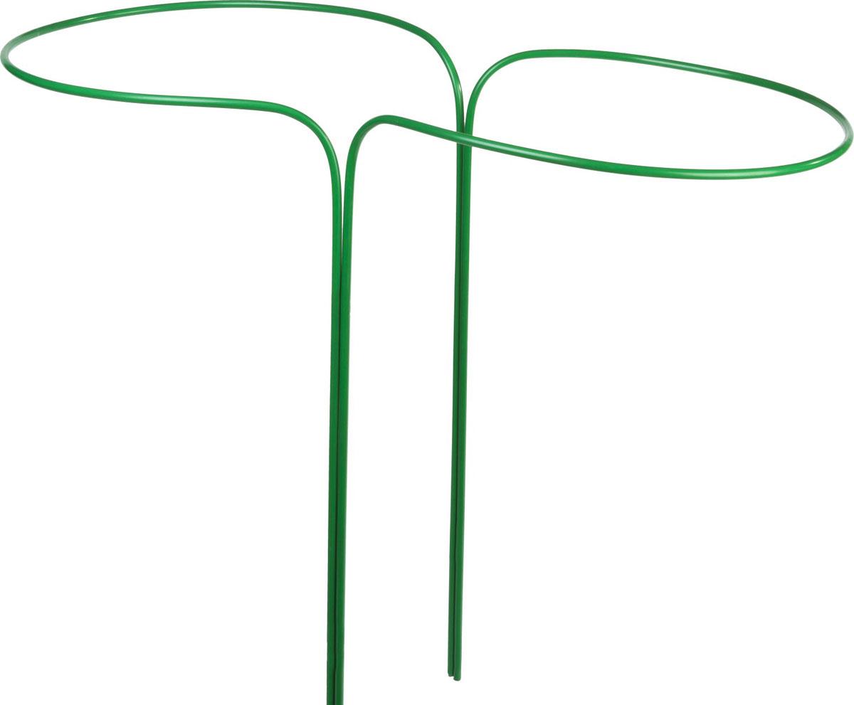 Кустодержатель Grinda применяется для поддержки растений и придания им необходимой формы. Прочность конструкции обеспечивается использованием стальной трубы диаметром 10 мм.Покрытие ПВХ надежно защищает изделие от коррозии. Размер: 80х90 см. Материал: стальная труба диаметром 10 мм, покрытая ПВХ. Количество полудуг: 2 шт.