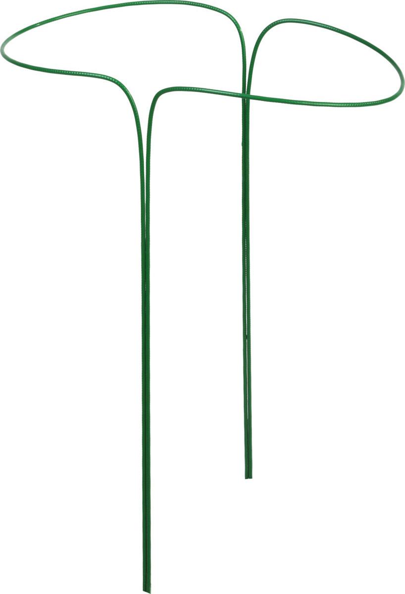 Подставка под цветы Grinda применяется для поддержки растений и придания им необходимой формы. Прочность конструкции обеспечивается использованием стальной проволоки диаметром 5 мм. Порошковая окраска изделия для защиты от коррозии. Размер: 33х50 см.  Материал: стальная проволока диаметром 5 мм, окрашенная порошковой краской. Количество полудуг: 2 шт.