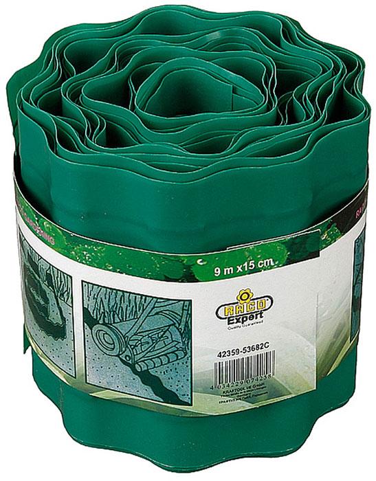 Лента бордюрная RACO предназначена для огораживания клумб и газонов  различной геометрической формы. Высококачественный материал делает  изделие устойчивым к различным погодным условиям. Обеспечивает красивое  обрамление цветочной клумбы и предотвращает прорастание на нее сорняков  извне.Высота: 150 мм. Длина: 9 м. Материал изделия: пластик.