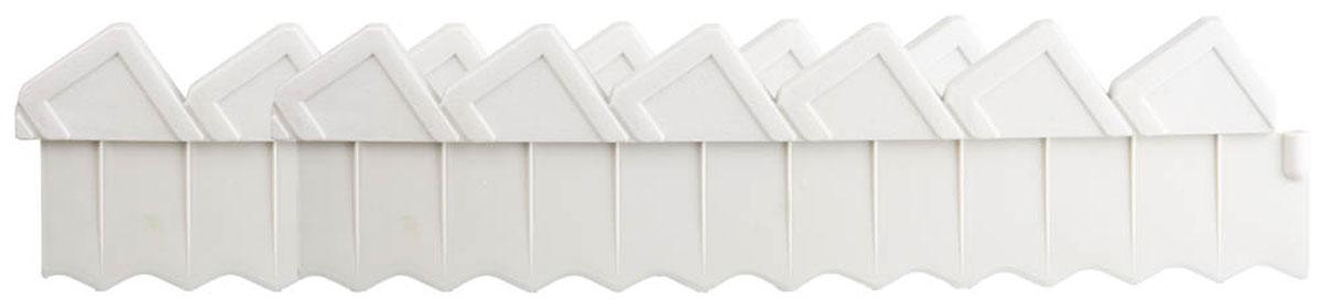 Ограждение для клумб, Grinda, цвет: белый, 2 секции
