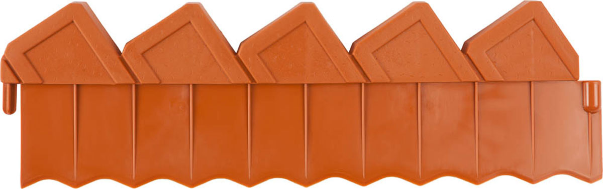 Ограждение для клумб, Grinda, цвет: коричневый, 288 см