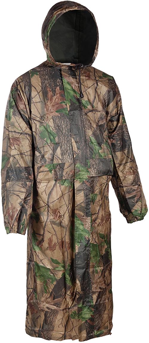 Плащ рыболовный мужской Huntsman Ливень, цвет: зеленый, коричневый. lv_100. Размер 50lv_100-705Плащ рыболовный мужской Huntsman Ливень - это надежная и удобная защита от дождя, ветра и грязи. Надевается поверх любой одежды. Особенности модели: - отсутствие швов на плечах - проклеенные швы.- капюшон стягивается шнуром с фиксаторами. - два кармана под планкой.- двухзамковая молния закрыта планкой на липучках. - рукава на резинке. - непромокаемая ткань.