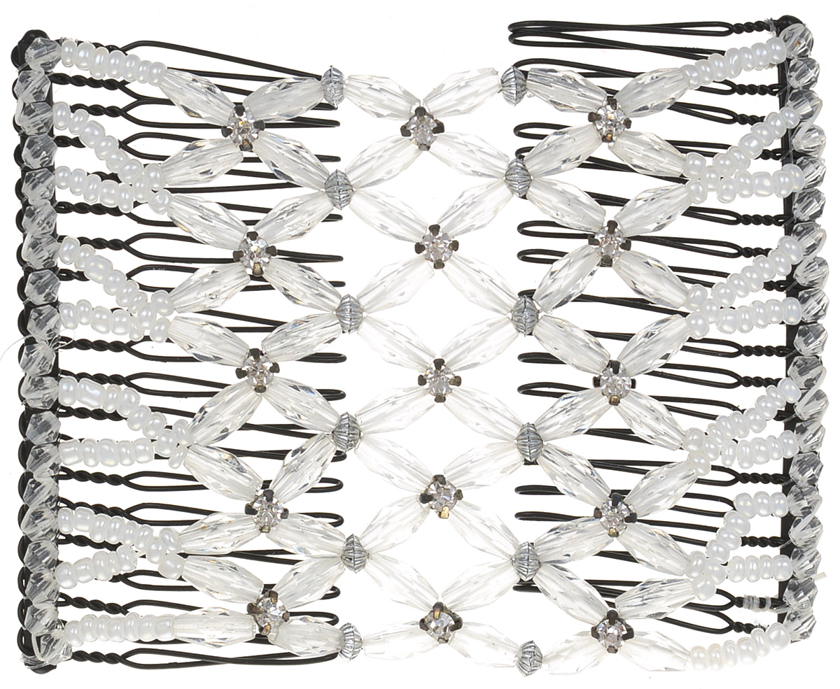 EZ-Combs Заколка Изи-Комбс, одинарная, цвет: прозрачный. ЗИО_стразы ez combs заколка изи комбс одинарная цвет розовый зио листья