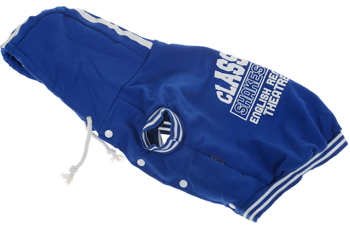 """Куртка-толстовка для собак Dobaz """"Classical"""", цвет: синий. ДА13075СХЛ. Размер XL"""