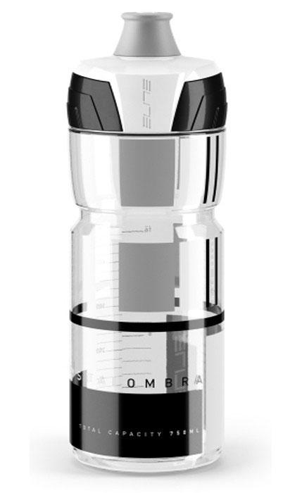 Фляга Elite Crystal Ombra, цвет: черный, белый, серый, 750 мл