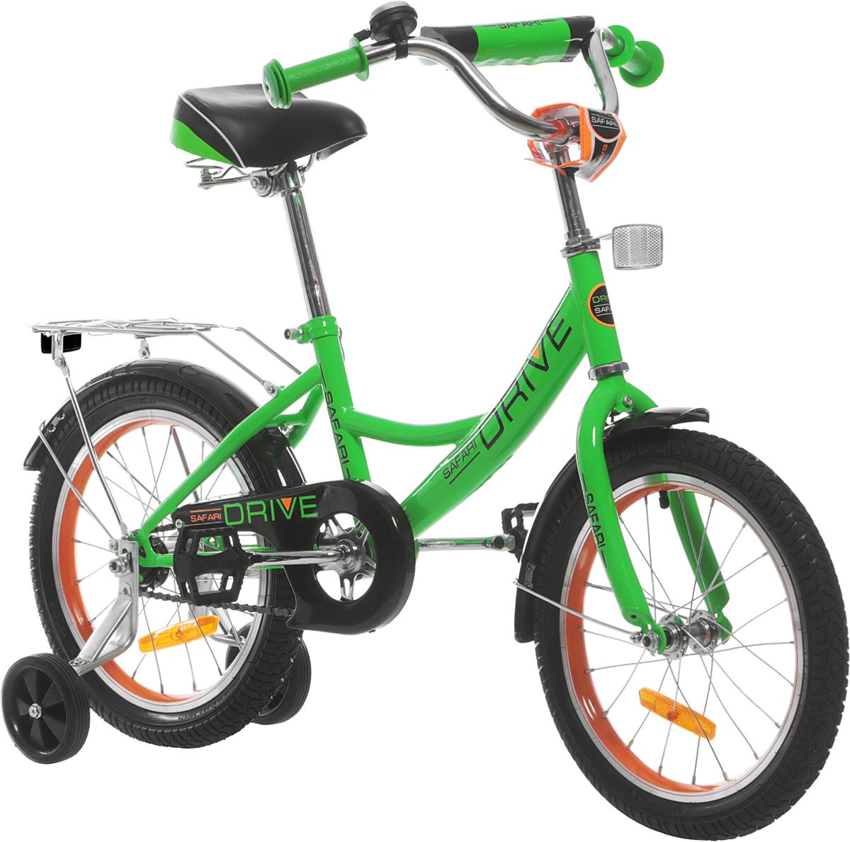 Велосипед детский Safari  Proff Drive , двухколесный, цвет: салатовый, колесо 18  - Детские велосипеды