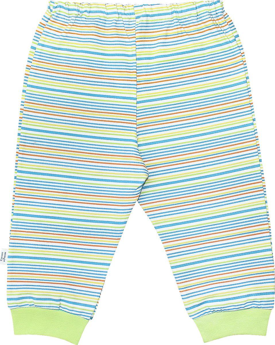 Штанишки Веселый малыш One, цвет: зеленый. 33170/one-F (1)_яркая полоса. Размер 86 брюки джинсы и штанишки веселый малыш штанишки мото