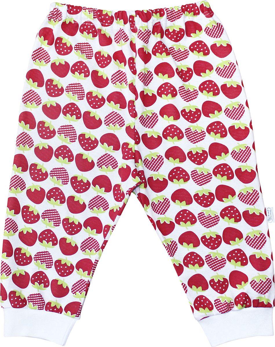 Штанишки для девочки Веселый малыш One, цвет: красный. 33170/one-F (1)_клубничка. Размер 86 брюки джинсы и штанишки веселый малыш штанишки мото