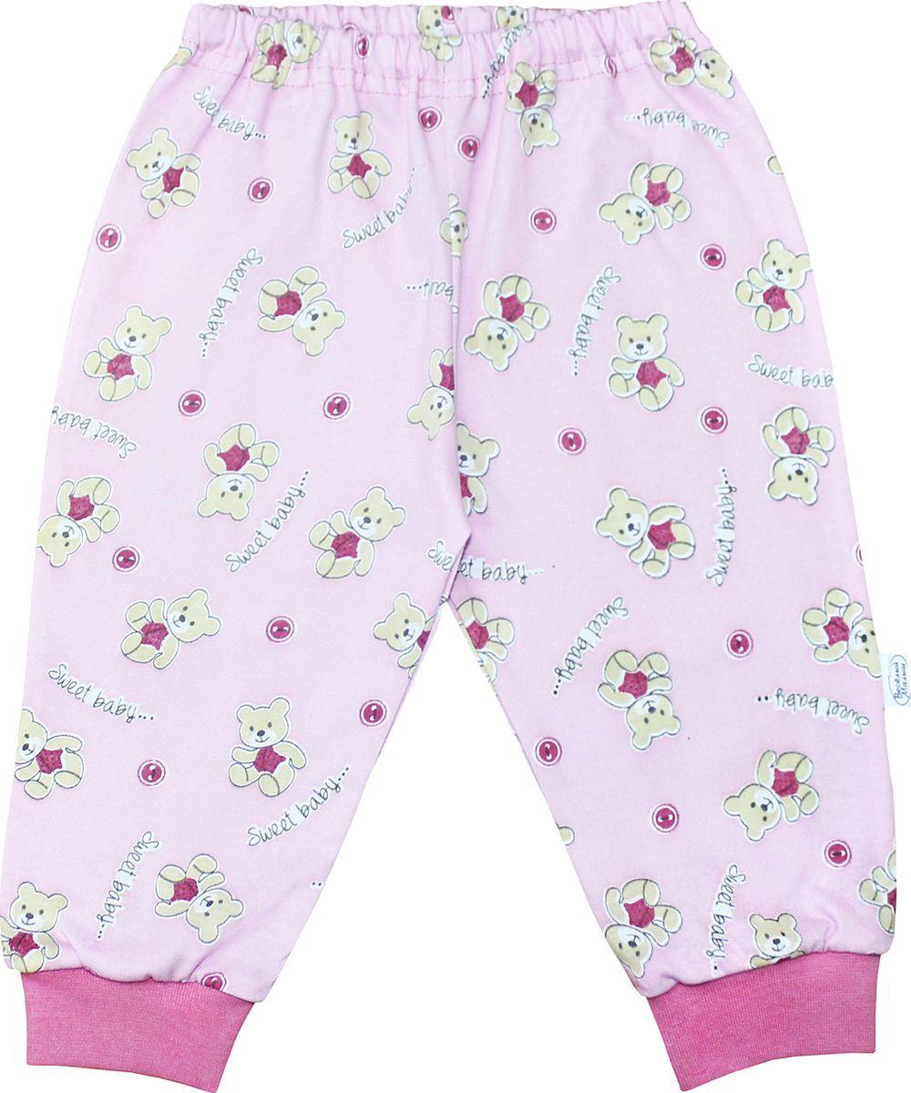 Штанишки для девочки Веселый малыш One, цвет: розовый. 33170/one-F (1)_милый мишка. Размер 86 брюки джинсы и штанишки веселый малыш штанишки мото