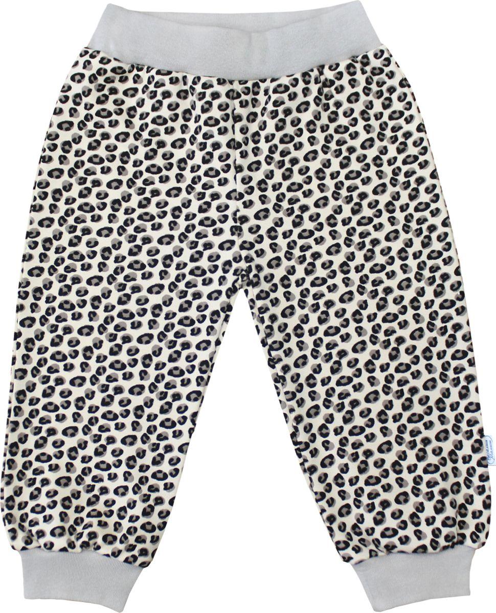 Штанишки для девочки Веселый малыш One, цвет: шоколадный. 131/150/One-F (1)_леопард. Размер 86 брюки джинсы и штанишки веселый малыш штанишки мото