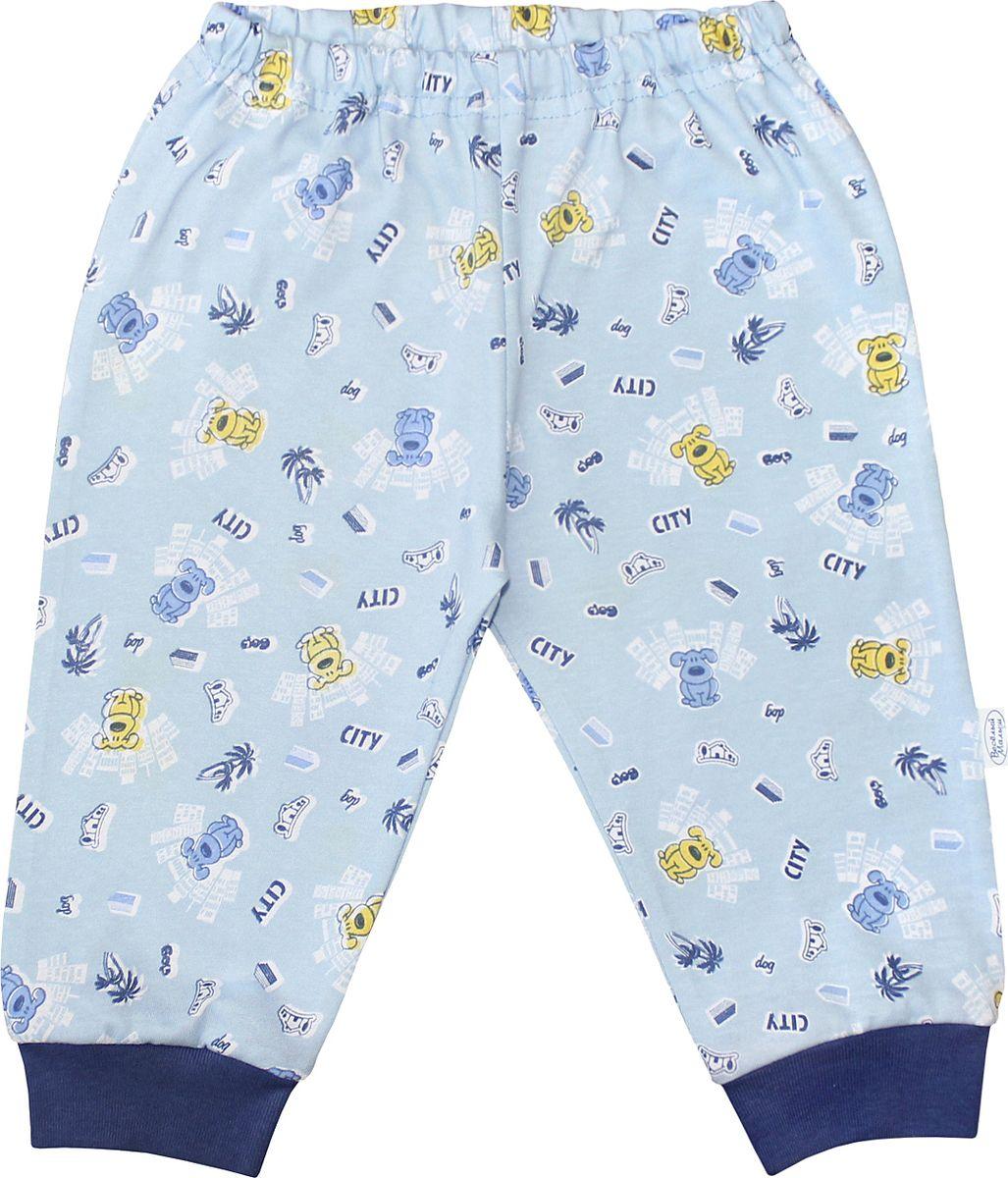 Штанишки для мальчика Веселый малыш One, цвет: голубой. 33170/one-F (1)_городской пес. Размер 86 брюки джинсы и штанишки веселый малыш штанишки мото