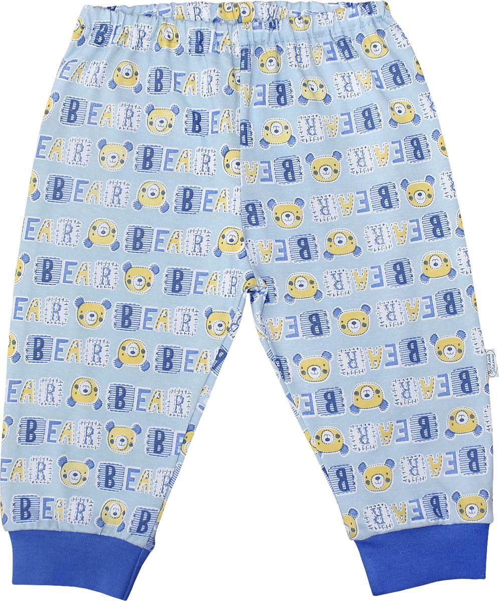 Штанишки для мальчика Веселый малыш One, цвет: голубой. 33170/one-F (1)_медведь. Размер 86 брюки джинсы и штанишки веселый малыш штанишки мото
