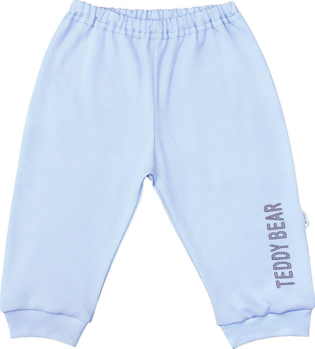 Штанишки для мальчика Веселый малыш Мишка-Тедди, цвет: голубой. 33320/мт-F (1). Размер 86 брюки джинсы и штанишки веселый малыш штанишки мото