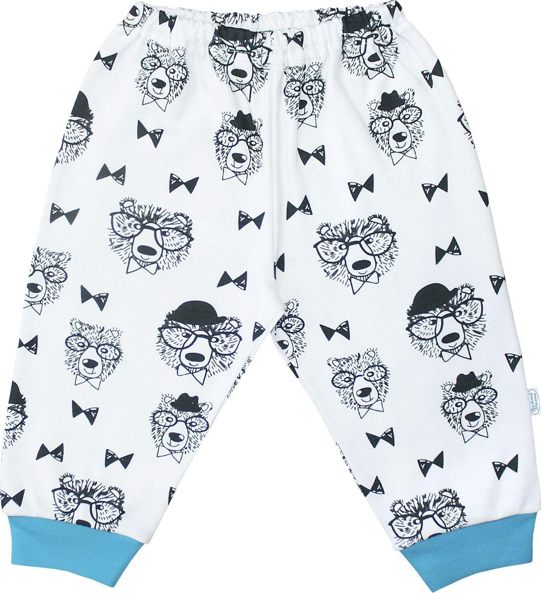 Штанишки для мальчика Веселый малыш Профессор, цвет: светло-бежевый. 33320/п-F (1). Размер 86 брюки джинсы и штанишки веселый малыш штанишки мото