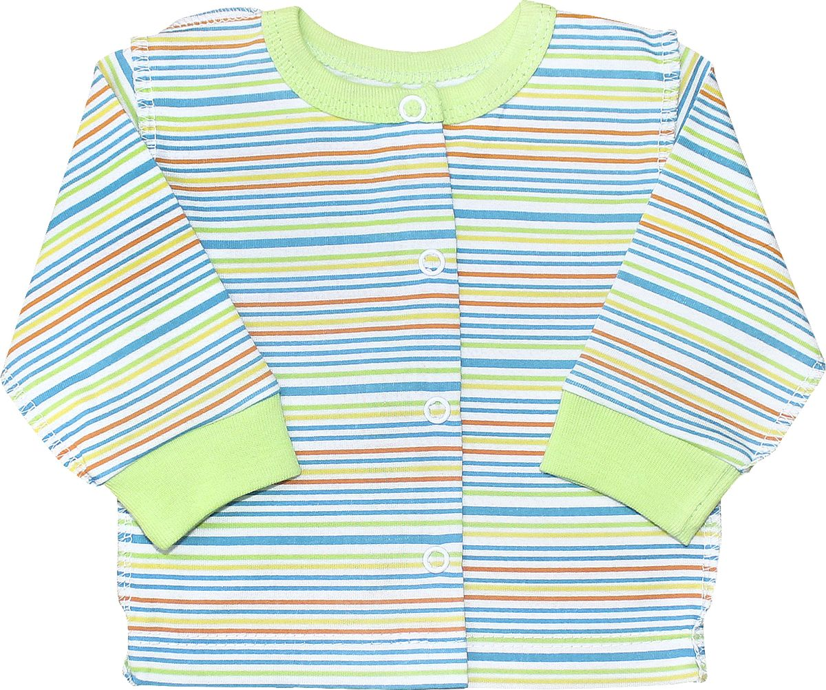 Кофточка Веселый малыш One, цвет: зеленый. 24172/one-E (1)_яркая полоса. Размер 80
