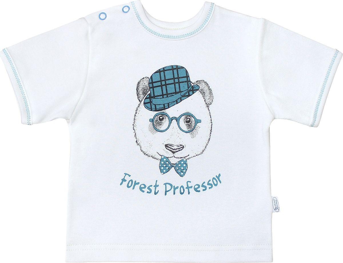 Футболка для мальчика Веселый малыш Профессор, цвет: светло-бежевый. 67322/п-F (1). Размер 86 веселый малыш футболка для мальчика веселый малыш