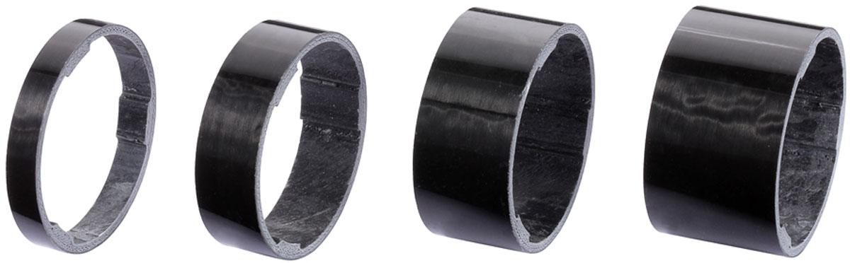 Комплект проставочных колец BBB LightSpace, цвет: черный, диаметр 1-1/8, 4 шт