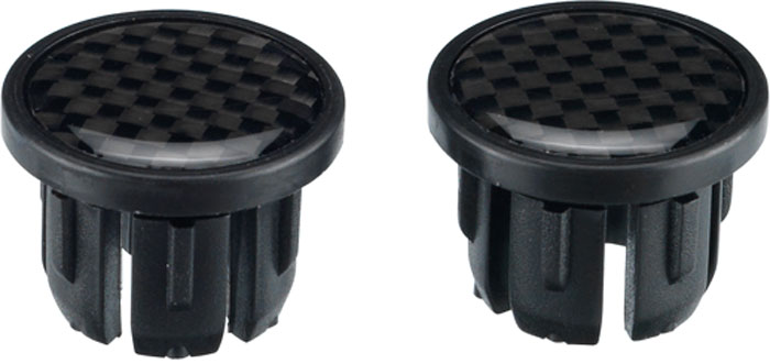 Заглушки для грипс BBB End Caps Carbon Struture, 2 шт
