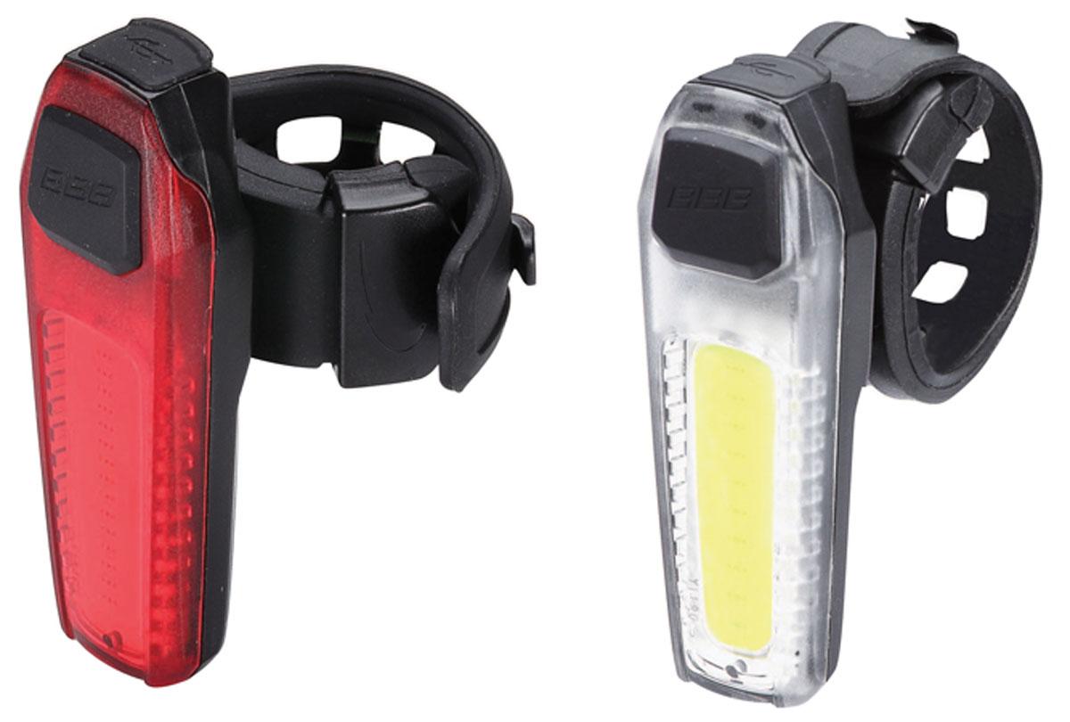 Комплект велосипедных фар BBB SignalCombo, передняя, задняя, с перезаряжаемой литиевой батареей, цвет: черный комплект крыльев bbb cityguard front
