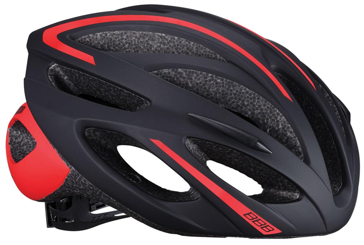 Велошлем BBB 2018 Taurus, цвет: черный, красный. Размер L