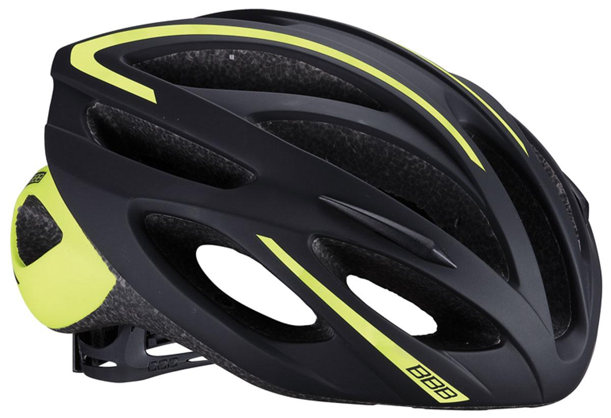 Велошлем BBB 2018 Taurus, цвет: черный, лайм. Размер M