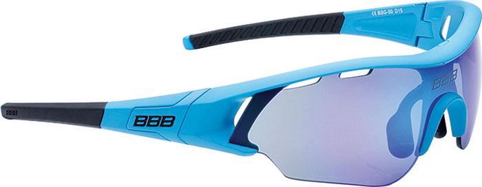 Очки солнцезащитные велосипедные BBB 2018 Summit PC Smoke MLC Blue Lens, цвет: синий