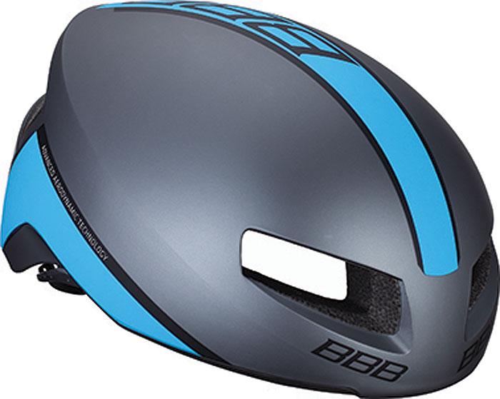 Велошлем BBB 2018 Tithon, цвет: серый матовый, синий. Размер L