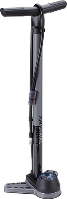 Насос напольный BBB AirStrike Steel Pump, с поворотной головкой, цвет: серый, 2,5